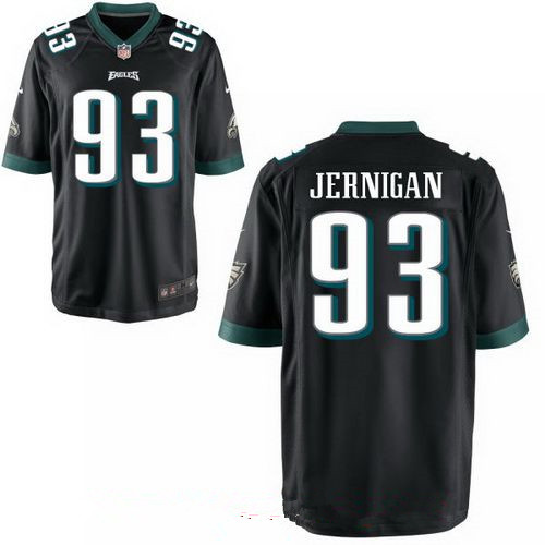 Men's Philadelphia Eagles #93 Timmy Jernigan Black Alternate Stitched NFL Nike Game Jersey