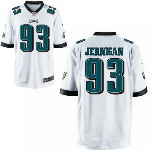 Men's Philadelphia Eagles #93 Timmy Jernigan White Road Stitched NFL Nike Game Jersey