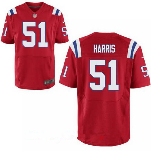 Men's New England Patriots #51 David Harris Red Alternate Stitched NFL Nike Elite Jersey