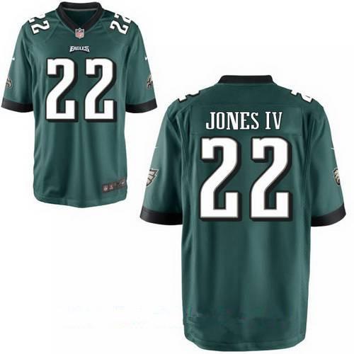 Men's Philadelphia Eagles #22 Sidney Jones IV Midnight Green Team Color Stitched NFL Nike Elite Jersey