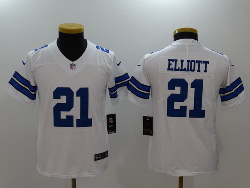 Youth Dallas Cowboys #21 Ezekiel Elliott White 2017 Vapor Untouchable Stitched NFL Nike Limited Jersey