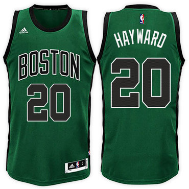 Boston Celtics #20 Gordon Hayward Road Green Black New Swingman Jersey