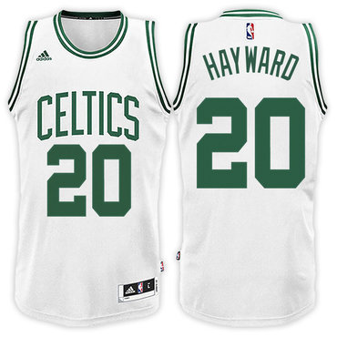 Boston Celtics #20 Gordon Hayward Home White New Swingman Jersey