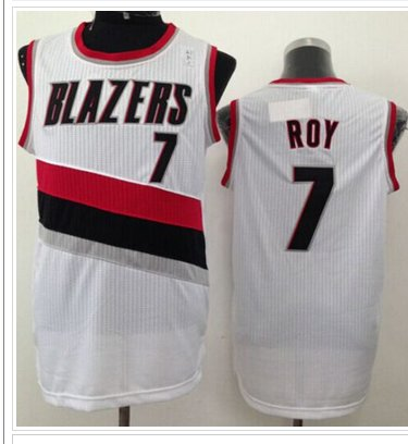 Revolution 30 Portland Trail Blazers #7 Brandon Roy White NBA Jersey