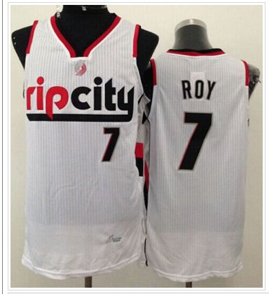 Portland Trail Blazers #7 Brandon Roy White Throwback NBA Jersey
