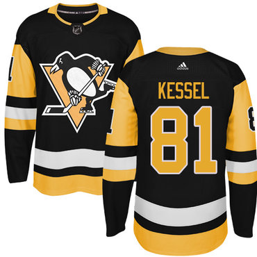 Adidas Pittsburgh Penguins #81 Phil Kessel Black Alternate Authentic Stitched NHL Jersey
