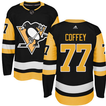 Adidas Pittsburgh Penguins #77 Paul Coffey Black Alternate Authentic Stitched NHL Jersey