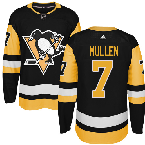 Adidas Pittsburgh Penguins #7 Joe Mullen Black Alternate Authentic Stitched NHL Jersey