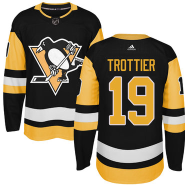 Adidas Pittsburgh Penguins #19 Bryan Trottier Black Alternate Authentic Stitched NHL Jersey