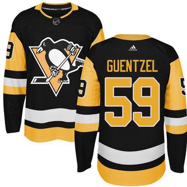 Adidas Pittsburgh Penguins #59 Jake Guentzel Black Alternate Authentic Stitched NHL Jersey