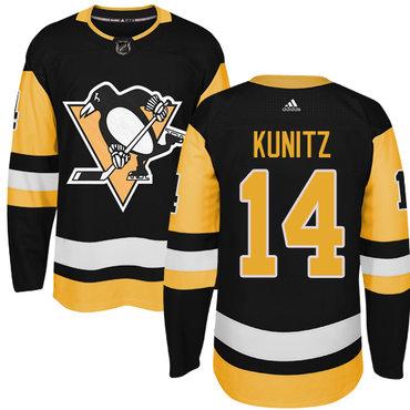 Adidas Pittsburgh Penguins #14 Chris Kunitz Black Alternate Authentic Stitched NHL Jersey