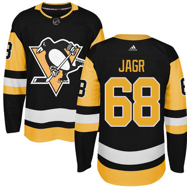 Adidas Pittsburgh Penguins #68 Jaromir Jagr Black Alternate Authentic Stitched NHL Jersey