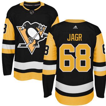 Adidas Pittsburgh Penguins #68 Jaromir Jagr Black Alternate Authentic Stitched NHL Jersey