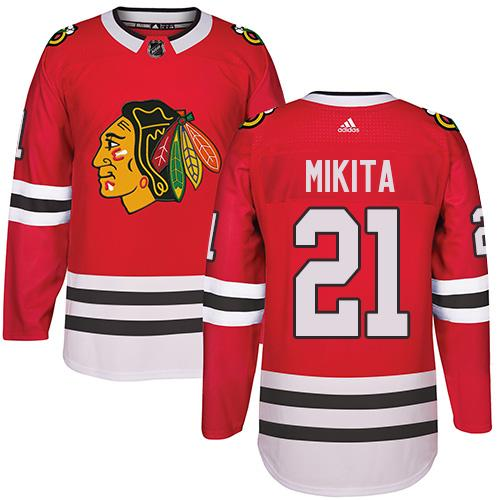 Adidas Chicago Blackhawks #21 Stan Mikita Red Home Authentic Stitched NHL Jersey