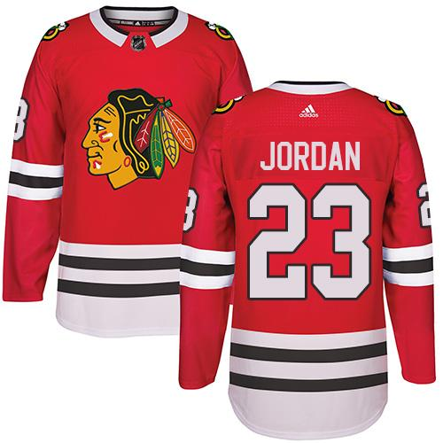Adidas Chicago Blackhawks #23 Michael Jordan Red Home Authentic Stitched NHL Jersey