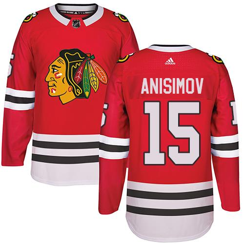 Adidas Chicago Blackhawks #15 Artem Anisimov Red Home Authentic Stitched NHL Jersey
