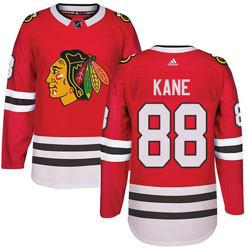 Adidas Chicago Blackhawks #88 Patrick Kane Red Home Authentic Stitched NHL Jersey