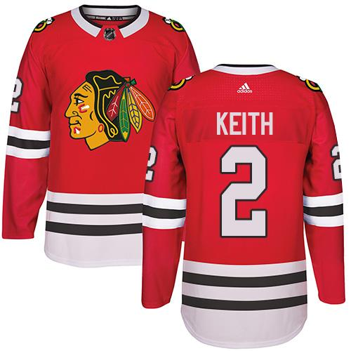 Adidas Chicago Blackhawks #2 Duncan Keith Red Home Authentic Stitched NHL Jersey