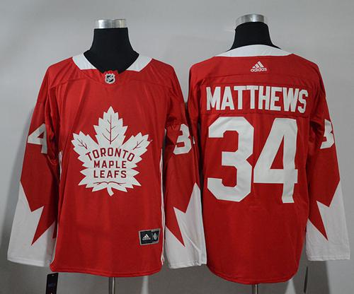 Adidas Toronto Maple Leafs #34 Auston Matthews Red Team Canada Authentic Stitched NHL Jersey