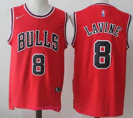 Men's Chicago Bulls #8 Zach LaVine Red 2017-2018 Nike Swingman Stitched NBA Jersey