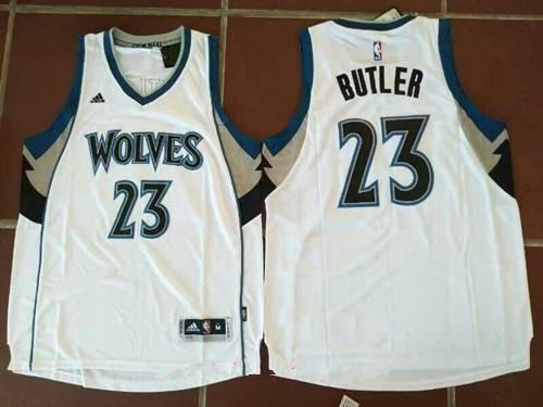 Men's Minnesota Timberwolves #23 Jimmy Butler White Stitched NBA adidas Revolution 30 Swingman Jersey