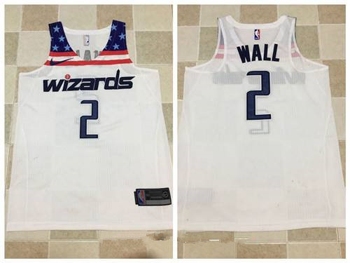 Men's Washington Wizards #2 John Wall White 2017-2018 Nike Swingman Stitched NBA Jersey