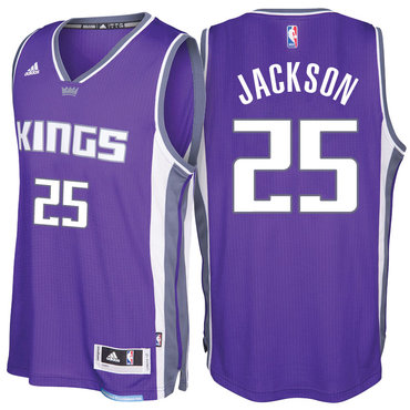 Sacramento Kings #25 Justin Jackson Road Purple New Swingman Jersey