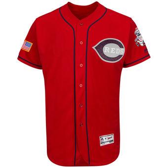 Men's Cincinnati Reds Majestic Fashion Stars & Stripes FlexBase Jersey - Scarlet