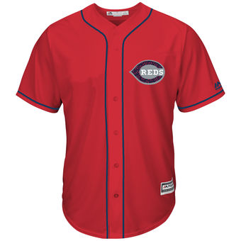 Men's Cincinnati Reds Majestic Fashion Stars & Stripes Cool Base Jersey - Scarlet