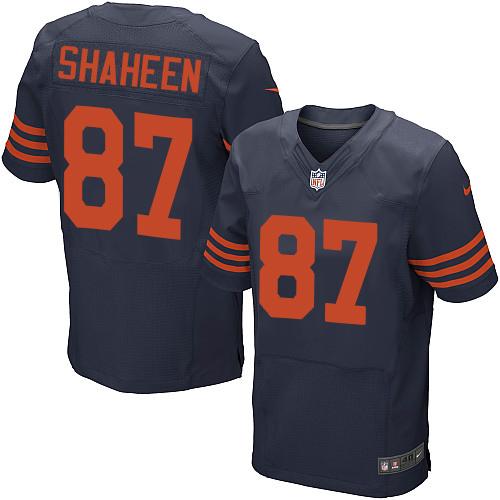 Nike Chicago Bears #87 Adam Shaheen Navy Blue Alternate Men's Stitched NFL Elite Jersey