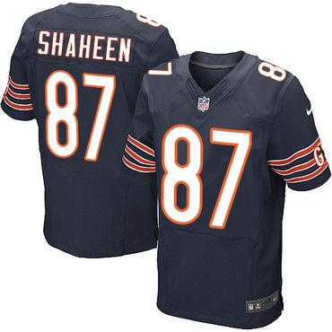 Nike Chicago Bears #87 Adam Shaheen Navy Blue Team Color Men's Stitched NFL Elite Jersey