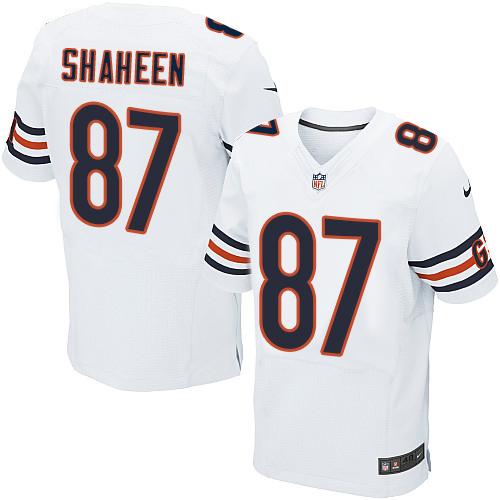 Nike Chicago Bears #87 Adam Shaheen White Men's Stitched NFL Elite Jersey