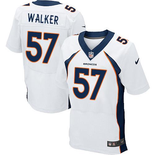 Nike Denver Broncos #57 Demarcus Walker White Men's Stitched NFL New Elite Jersey
