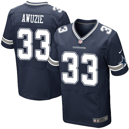 Nike Dallas Cowboys #33 Chidobe Awuzie Navy Blue Team Color Men's Stitched NFL Elite Jersey
