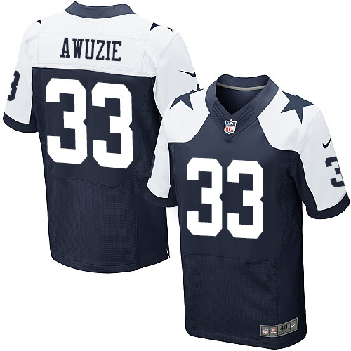 Nike Dallas Cowboys #33 Chidobe Awuzie Navy Blue Thanksgiving Men's Stitched NFL Throwback Elite Jersey
