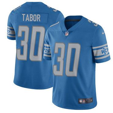 Nike Detroit  Lions #30 Teez Tabor Blue Team Color Men's Stitched NFL Elite Jersey