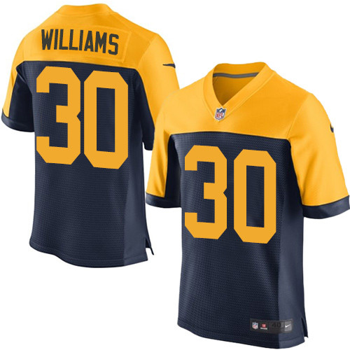 Nike Green Bay Packers #30 Jamaal Williams Navy Blue Alternate Men's Stitched NFL New Elite Jersey