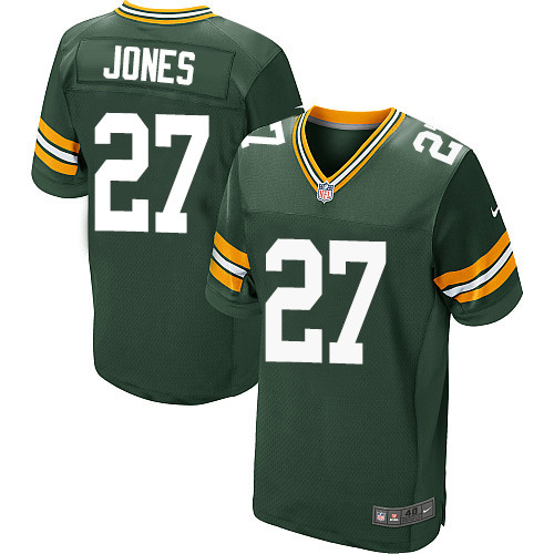 Nike Green Bay Packers #27 Josh Jones Green Team Color Men's Stitched NFL Elite Jersey