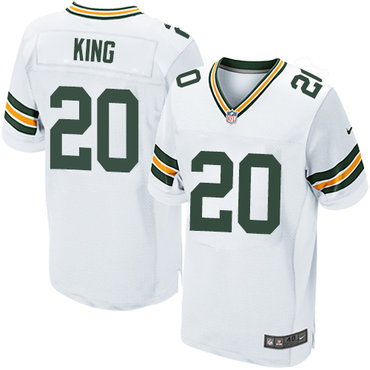 Nike Green Bay Packers #20 Kevin King White Men's Stitched NFL Elite Jersey