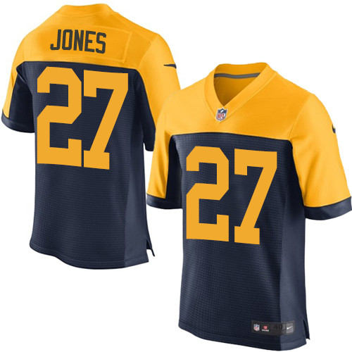 Nike Green Bay Packers #27 Josh Jones Navy Blue Alternate Men's Stitched NFL New Elite Jersey