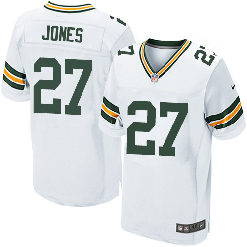 Nike Green Bay Packers #27 Josh Jones White Men's Stitched NFL Elite Jersey