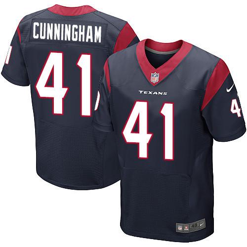 Nike Houston Texans #41 Zach Cunningham Navy Blue Team Color Men's Stitched NFL Elite Jersey