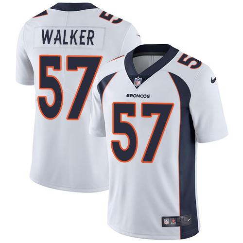 Nike Denver Broncos #57 Demarcus Walker White Men's Stitched NFL Vapor Untouchable Limited Jersey
