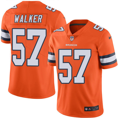 Nike Denver Broncos #57 Demarcus Walker Orange Men's Stitched NFL Limited Rush Jersey