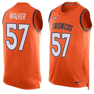 Nike Denver Broncos #57 Demarcus Walker Orange Team Color Men's Stitched NFL Limited Tank Top Jersey