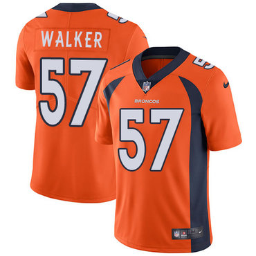 Nike Denver  Broncos #57 Demarcus Walker Orange Team Color Men's Stitched NFL Vapor Untouchable Limited Jersey