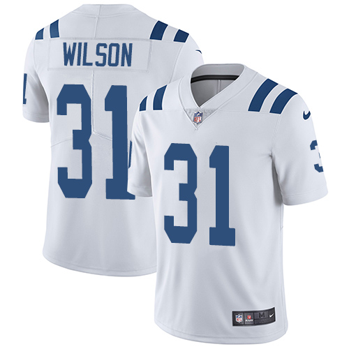 Nike Indianapolis Colts #31 Quincy Wilson White Men's Stitched NFL Vapor Untouchable Limited Jersey