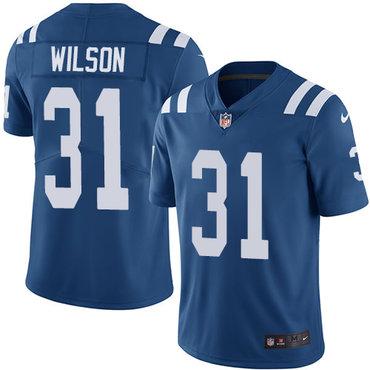 Nike Indianapolis Colts #31 Quincy Wilson Royal Blue Team Color Men's Stitched NFL Vapor Untouchable Limited Jersey