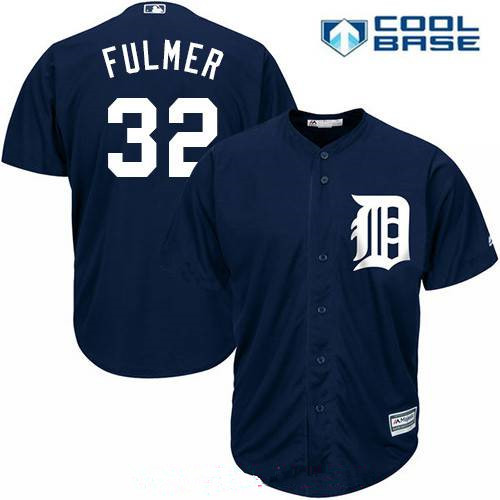 Men's Detroit Tigers #32 Michael Fulmer Navy Blue Alternate Stitched MLB Majestic Cool Base Jersey