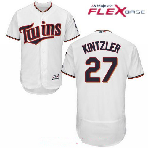 Men's Minnesota Twins #27 Brandon Kintzler White Home Stitched MLB Majestic Flex Base Jersey